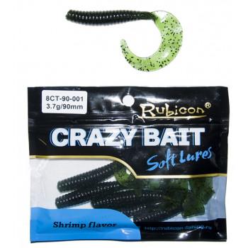 Съедобная силиконовая приманка RUBICON Crazy Bait CT 3.7g, 90mm, цвет 001 (6 шт)
