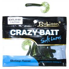 Съедобная силиконовая приманка RUBICON Crazy Bait CKTL 1.4g