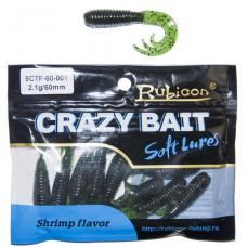 Съедобная силиконовая приманка RUBICON Crazy Bait CTF 2.1g, 60mm, цвет 001 (10 шт)