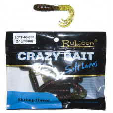 Съедобная силиконовая приманка RUBICON Crazy Bait CTF 2.1g, 60mm, цвет 002 (10 шт)